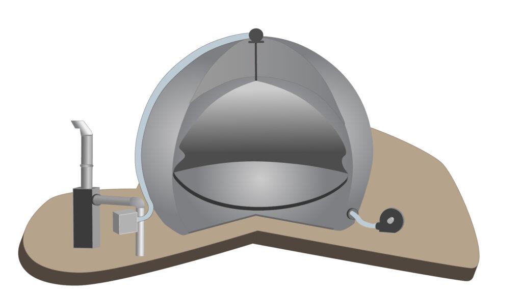 Querschnitt Gasspeicher Ilustration