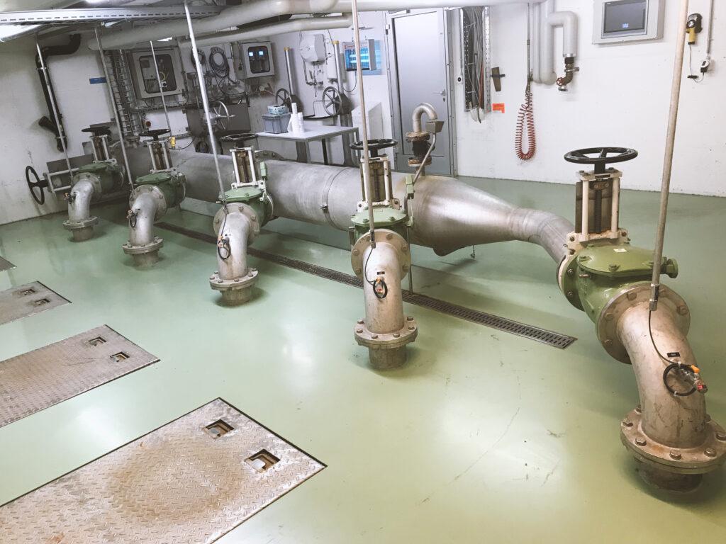 Ablaufpumpwerk 5 Pumpstationen
